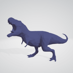 imagen_2020-10-11_154352.png Download STL file T-Rex Dinosaur Low Poly Res • 3D printer model, dylix3d