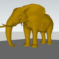 master.jpg Download STL file print ready high poly extra detailed elephant • 3D print object, rajatsingla455