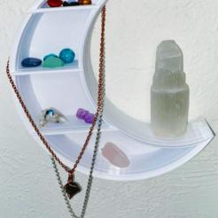 Moon Shelf Photo.png Download STL file Lunar Wall Art Shelf • 3D printable model, xYeezySZN