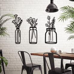 Flower Pot Pic.png Download STL file Minimal Boho Hand Drawn Flower Pots • 3D print object, xYeezySZN