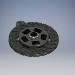 Clutch Plate.jpg Download free STL file Clutch Plate Keyring • 3D printer design, leo28