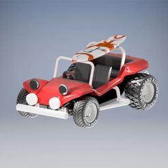 Download 3D printer templates Beach Buggy Body, leo28
