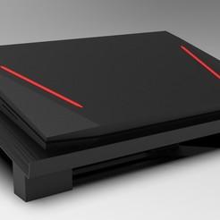 Laptop stand render 5.jpg Télécharger fichier STL Support pour ordinateur portable • Plan pour imprimante 3D, Vishnukaarthi