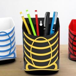 Pencil stand render 1.jpg Télécharger fichier STL Porte-crayons • Design imprimable en 3D, Vishnukaarthi