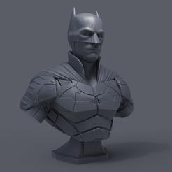 preview1.png Télécharger fichier STL Buste de Batman - Robert Pattinson • Plan imprimable en 3D, armandburger26
