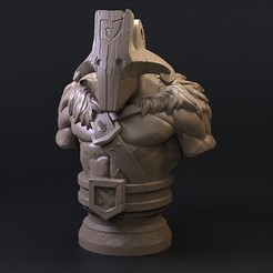 preview1.jpg Download STL file Dota 2 Juggernaut • 3D printable object, armandburger26