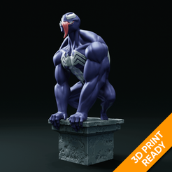 preview1.png Download STL file Venom statue 3D print model • 3D printing template, armandburger26