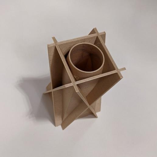 PXL_20201116_150230891.PORTRAIT-01.COVER.jpg Download free STL file X Brace Vase • 3D printable design, OrnjCreate