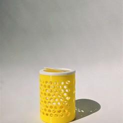 007.jpg Download free STL file Simple Patterned Bin with Lid • 3D printing design, OrnjCreate