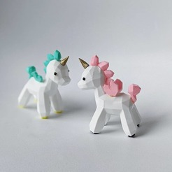 Download free STL file Unicorn Lowpoly • Model to 3D print, OrnjCreate