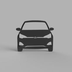 Download free 3D printer designs Hyundai i20 Keychain, ameyad8