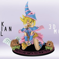 Download STL Dark Magician Girl Figurine - Yu-Gi-Oh - SFW and NSFW 3D print model, eroticdream3d