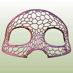 head mask.jpg Download STL file Head mask-voronoi structure • 3D printer object, Tanerxun