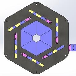 iris mechanism-hexagon with hole 1.jpg Download STL file Iris mechanical-hexagon with center hole • Model to 3D print, Tanerxun