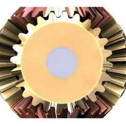 bevel gear transmission-5 gears a.jpg Download free STL file 5 bevel gear transmission set-T24 • 3D printing design, Tanerxun