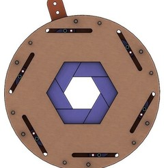 mechanical iris-hexagon cutout 2.jpg Download STL file Mechanical iris-hexagon cutout • 3D printing design, Tanerxun