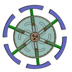 Expanding  mechanism-outer self lock4.jpg Télécharger fichier STL Mécanisme d'expansion autobloquant 1-ressort extérieur • Objet pour impression 3D, Tanerxun