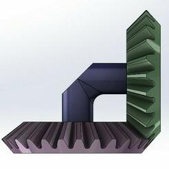 BG01-001.jpg Télécharger fichier STL gratuit Transmission à engrenage conique simple - 2 vitesses • Objet pour impression 3D, Tanerxun