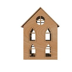 Download 3D print files Laser cut house model, Tanerxun