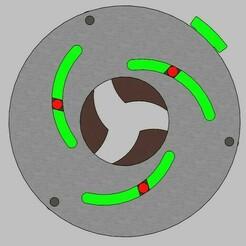 iris mechanism-3 blades E.jpg Download STL file Iris mechanism-3 blades • 3D print object, Tanerxun