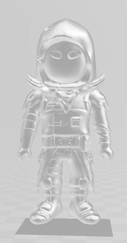 front.PNG Download free STL file Fortnite raven  • 3D printing design, Dillon1710