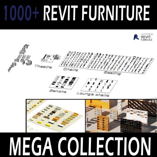Download 3D printer model Revit furniture collection for High quality rendering, Hamilton-Revit