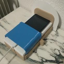 Smartphone_Bed1.jpg Télécharger fichier STL gratuit Lit pour smartphone • Modèle pour impression 3D, Pocheco