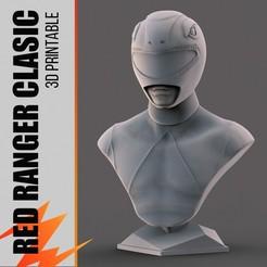 Download STL file Red Ranger Classic Bust - Fan Art, zmakrstudios