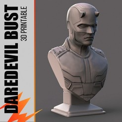 Download 3D printing designs Daredevil Bust - Fan Art, zmakrstudios