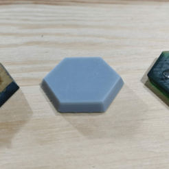 Download free 3D printing templates Magnetised hex base, 30 mm, Cryosleeper