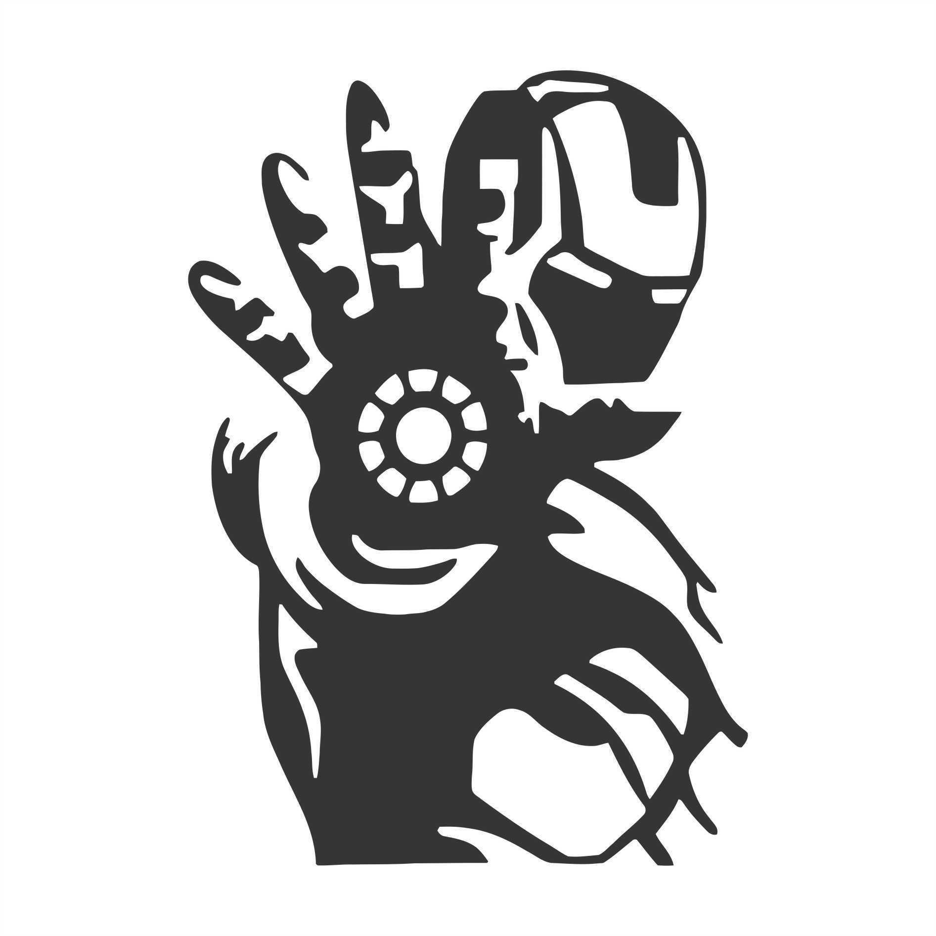 Étonnant Download STL file iron man stencil • Template to 3D print ・ Cults XG-94