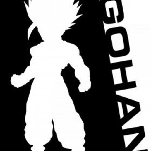 Telecharger Fichier Stl Pochoir Gohan Dragon Ball Design A Imprimer En 3d Cults