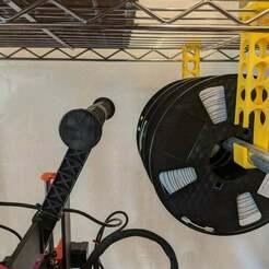 upload1.jpg Télécharger fichier STL gratuit Support de bobine de fil HDX • Objet pour imprimante 3D, ClassyNemesis