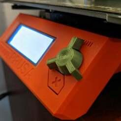on-printer.jpg Télécharger fichier STL gratuit Remix de la poignée du bouton LCD 3 de 2004 pour Prusa i3 MK3S • Plan pour imprimante 3D, ClassyNemesis