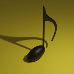 Download free 3D printer model Eighth Note (Quaver), acmabute