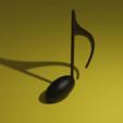 Note2.png Télécharger fichier STL gratuit Huitième note (Quaver) • Plan à imprimer en 3D, acmabute