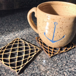 Download free 3D printer files Wooden Coasters, Gabriel9526