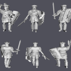 Download free 3D printing templates Warriors of Arnor with Hand Weapons, Swagius_Maximus