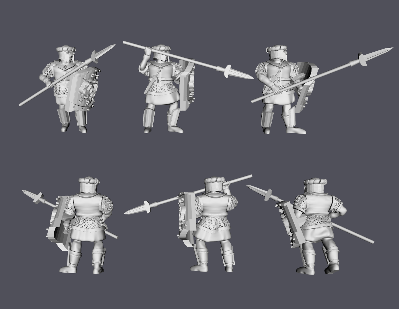Arnor Spearmen.png Download free STL file Arnor Spearmen LOTR Strategy Battle • 3D print design, Swagius_Maximus