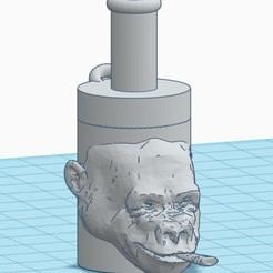 Download STL file shisha gorilla mouthpiece, bautistareveronmarcos