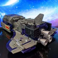 Download free 3D printing files Engine Bell for Siege/Earthrise Astrotrain, jesslynmakesrobots