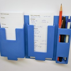 Download free 3D printer files Shopping List Holder, retorte_labs