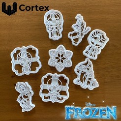 Frzen .jpg Download STL file Frozen Cookie cutters • 3D printing template, efrainmsolano