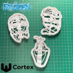 Frozen imagen.jpg Download STL file Frozen cookie cutters • Model to 3D print, efrainmsolano
