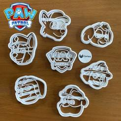 127441998_334208054538008_8976668688518913005_o.jpg Download STL file Paw patrol cookie cutters! • 3D print object, efrainmsolano