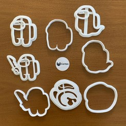AMNGOS FOTO 1.jpg Download STL file Among Us Cookie cutters! • 3D printing design, efrainmsolano
