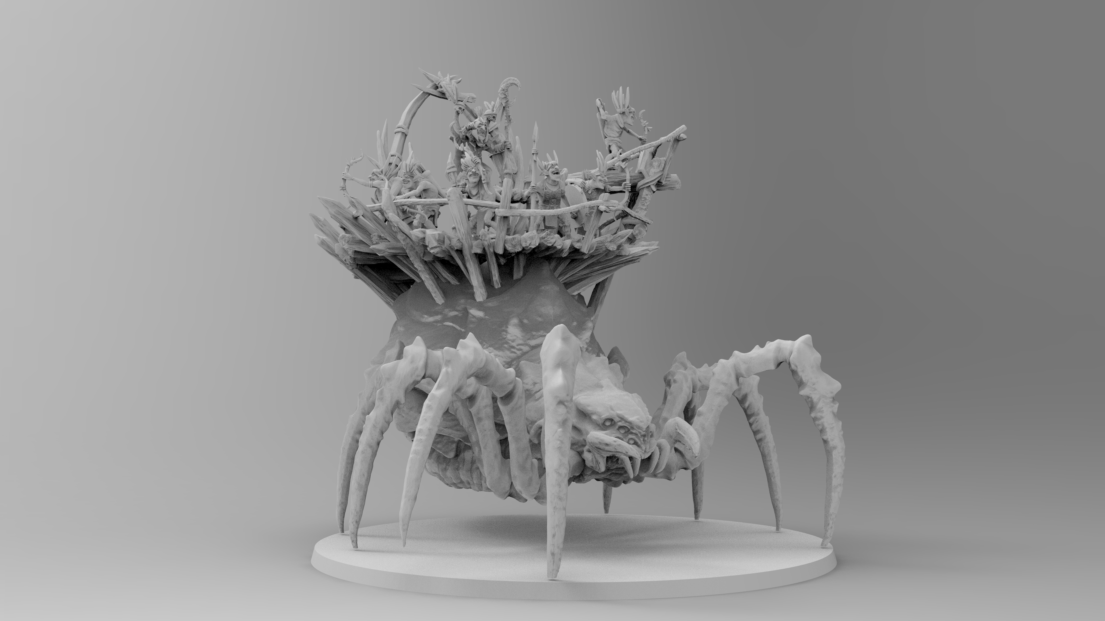 untitled.1146.jpg Download free 3MF file Child of Kumonga with Australian Spider-Tamer Contingent • 3D printable template, EmanG