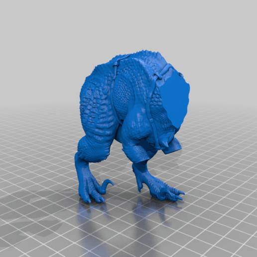 Grymloq_Main_Torso.png Download free 3MF file One-Armed Dino-Jesus & His Pet Tyrannosaur • 3D printing model, EmanG