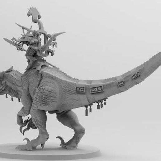 untitled.563.jpg Download free 3MF file One-Armed Dino-Jesus & His Pet Tyrannosaur • 3D printing model, EmanG