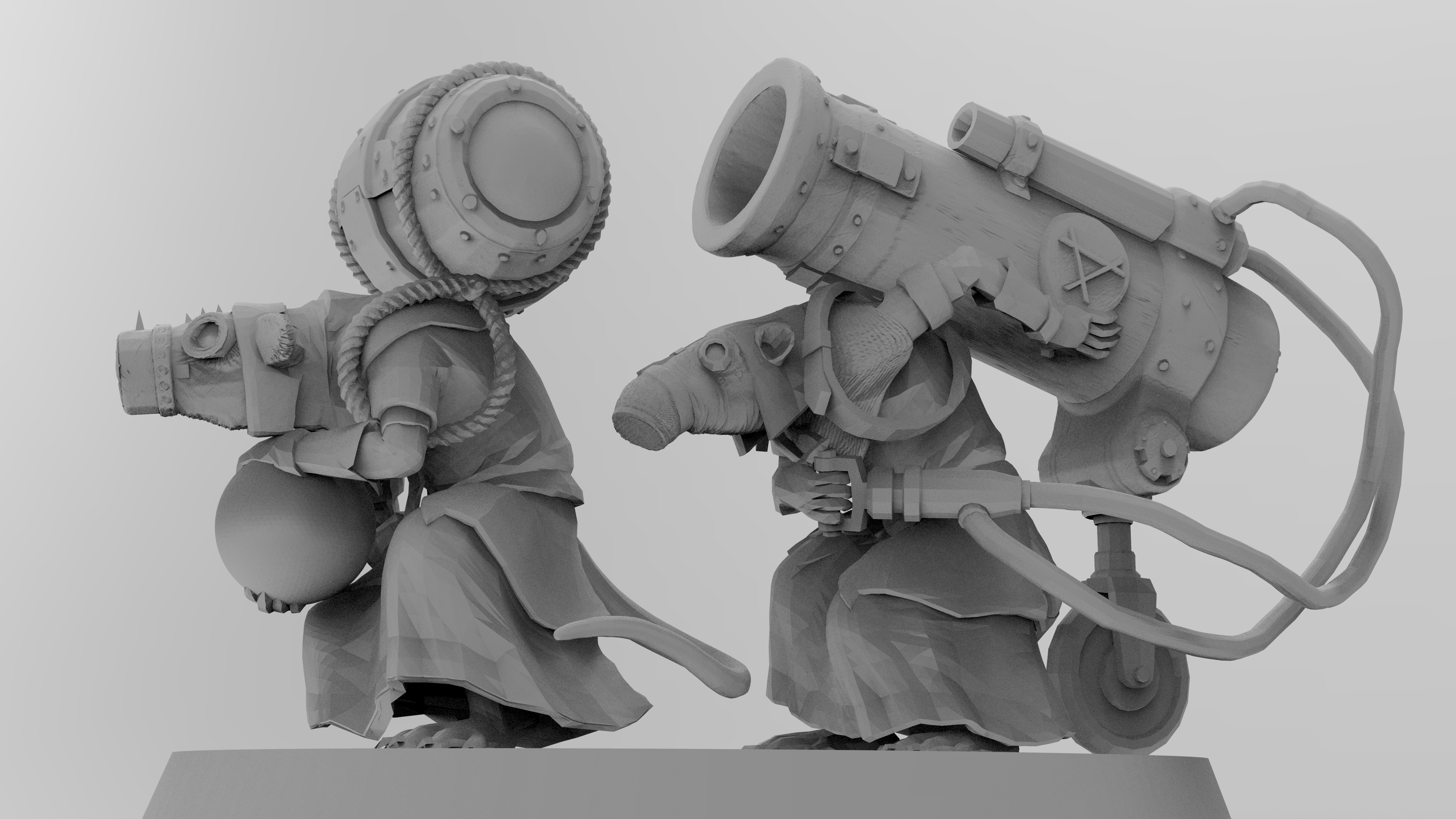 untitled.1518.jpg Download free 3MF file Ratman Weapon Squads • 3D printable object, EmanG